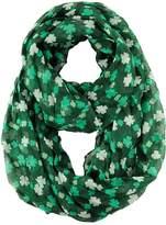 D&Y Holiday St. Patrick's Day Shamrock Chevron Scarf-Green