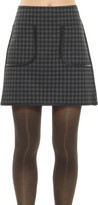 Max Studio Plaid Doubleknit A-Line Skirt