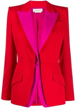 Alexander McQueen colour-block blazer
