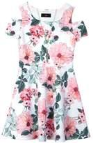 IZ Amy Byer Girls 7-16 IZ Amy Byer Patterned Cold Should Dress with Necklace
