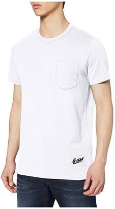 G Star G-Star Contrast Pocket Round Neck T-Shirt (White) Men's Clothing