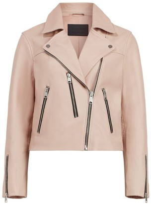 AllSaints Leather Kassia Biker Jacket