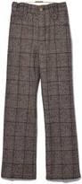 Marc Jacobs Cropped Pant with Crease in Brown Multi