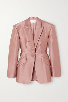 ALEXANDER MCQUEEN - Duchesse Silk-satin Blazer - Pink