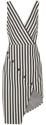 Altuzarra Marceau Asymmetric Striped Cotton-blend Dress