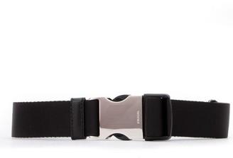 Prada Logo Engraved Webbed Belt