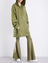 Fenty X Puma Lace-up cotton-blend hoody