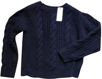 Sandro Navy Cotton Knitwear for Women