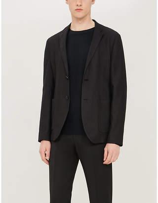 Emporio Armani Herringbone pattern regular-fit blazer