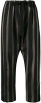 Hache striped cropped trousers - women - Cupro - 44