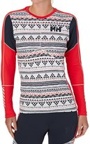 Helly Hansen Women%27s Lifa Active Graphic Thermal Crew Long Sleeve T