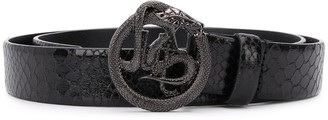 Just Cavalli serpent logo plaque belt