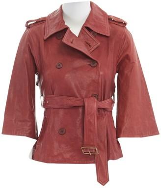 Diane von Furstenberg Red Leather Jackets