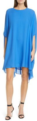 St. John Draped Silk Georgette Dress