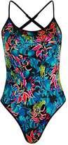 Tropical print swimsuit