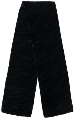 Giorgio Armani Pre-Owned 1990's Velvet Effect Scarf