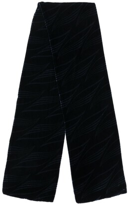 Giorgio Armani Pre Owned 1990's Velvet Effect Scarf