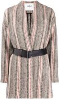 BA&SH Yumi patterned knit coat