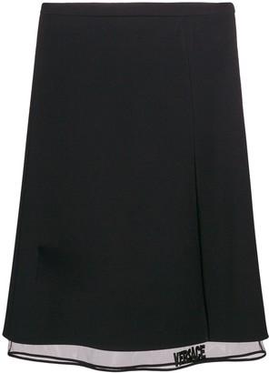 Versace Midi Layered Skirt