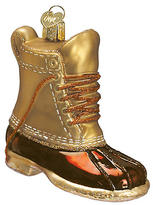 """4"""" Field Boot Ornament - Gold - OLD WORLD CHRISTMAS"""