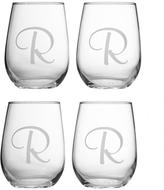 Personal Creations Set of 4 Stemless Wine Glasses