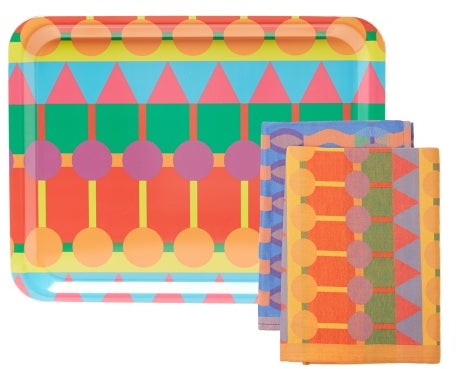 Thumbnail for your product : YINKA ILORI Ere Tray And Tea Towel Set - Multi