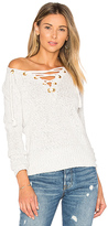 Lovers + Friends Yacht Sweater in Light Gray. - size S (also in )