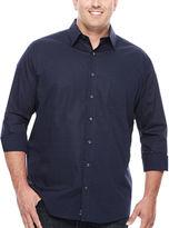 Claiborne Modern Long-Sleeve Woven Cotton Shirt - Big & Tall