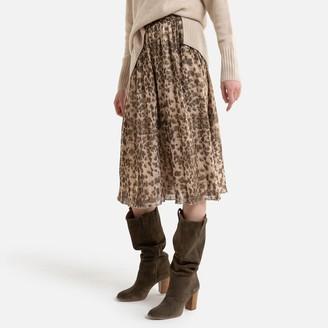 See U Soon Pleated Animal Print Skirt