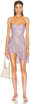 Fleur Du Mal Asymmetrical Bustier Dress in Tanzanite | FWRD