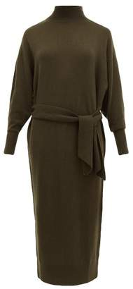 Zimmermann Espionage Belted Wool-blend Sweater Dress - Womens - Dark Olive