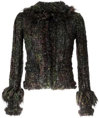 Chanel Pre Owned Fringed Tweed Jacket