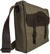Asstd National Brand Personalized Canvas Messenger Bag