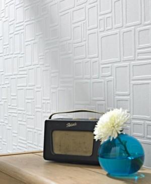 Graham & Brown Large Squares Paintable Wallpaper