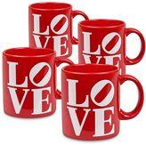 """Waechtersbach Love"""" 4-pc. Mug Set"""