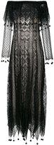 Alexander McQueen pom pom lace dress - women - Silk/Viscose - S