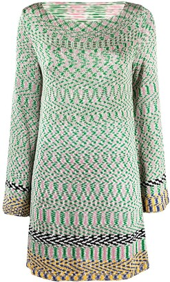 Missoni Embroidered Long-Sleeve Dress