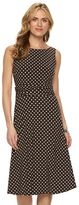 Chaps Petite Printed Ruched Dress