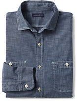 Classic Men's Tall Traditional Fit Chambray Shirt-Natural