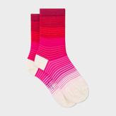Paul Smith Women's Pink Fading Stripe Socks