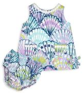 Lilly Pulitzer Baby's Vintage Dobby Two-Piece Shell Shift Dress & Bloomers Set