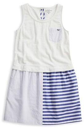 Vineyard Vines Little Girl's Girl's Mixed-Media Tank Dress