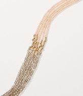 LOFT Iridescent Multistrand Beaded Necklace
