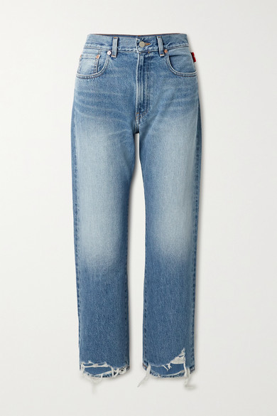 Thumbnail for your product : Denimist Distressed Boyfriend Jeans - Mid denim