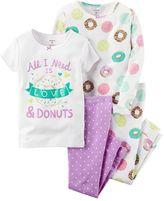 Carter's Girls 4-12 Printed Design Pajama Set