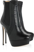Valentino Leather platform ankle boots