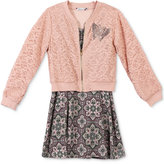 Speechless 2-Pc. Lace Bomber Jacket and Dress Set, Big Girls (7-16)