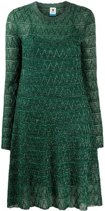 M Missoni Chevron Stripe Mini Dress