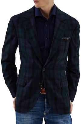 Brunello Cucinelli Plaid Wool, Silk & Cashmere Suit Jacket