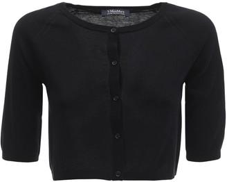 Max Mara 'S Cotton Knit Cardigan W/ Short Sleeves